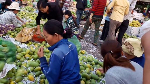 Hoa quả tươi ở chợ đầu mối Thủ Đức