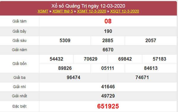 Dự đoán KQXS Quảng Trị 19/3/2020 - Soi cầu XSQT thứ 5