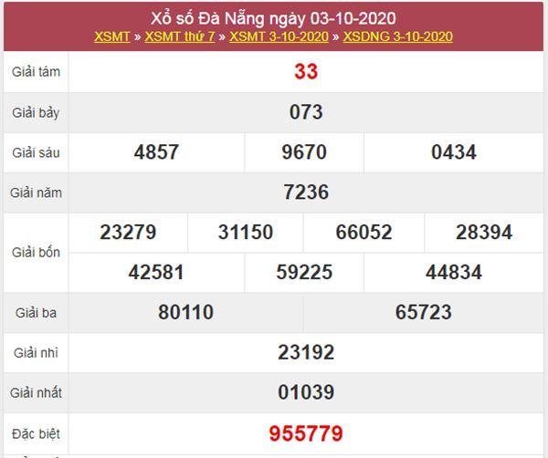 Phân tích XSDNG 7/10/2020 chốt KQXS Đà Nẵng thứ 4