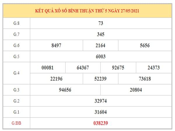 Thống kê KQXSBTH ngày 3/6/2021 dựa trên kết quả kì trước